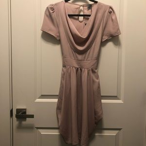 ASOS Cowl Neck Dusty Pink Tulip Dress 4